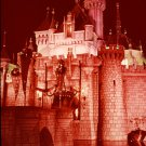 Disneyland 35mm SLEEPING BEAUTY CASTLE AT NIGHT Souvenir Slide (1972) 0651