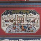 WINTER WONDERLAND Cross-Stitch Single Pattern ONLY Christmas Ice Skating Snow FREE SHIPPING
