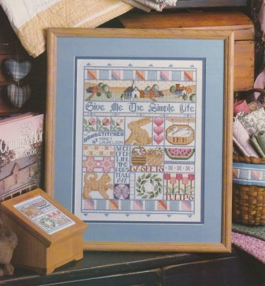 SIMPLE LIFE Sampler Cross-Stitch Single Pattern ONLY Garden Animasl Flowers FREE SHIPPING