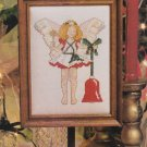 MERRY MAIDEN Cross-Stitch Single Pattern ONLY Christmas Holiday Angel Bell FREE SHIPPING