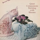 CHINA GARDEN Cross-Stitch Single Pattern ONLY Quiet Companion Floral Cat Rabbit FREE SHIPPING