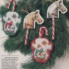 CANDY CANE CRITTERS Cross-Stitch Single Pattern ONLY Holiday Christmas Ornaments FREE SHIPPING