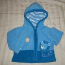 EUC - Baby Boys CARTER'S 3 Months Zip-Up Soft Sweater with Hood / Lion Football
