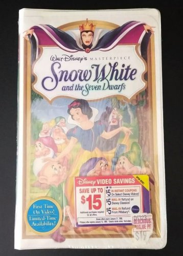 NEW / SEALED Walt Disney's Masterpiece SNOW WHITE AND THE SEVEN DRWAFS VHS Video FREE SHIPPING