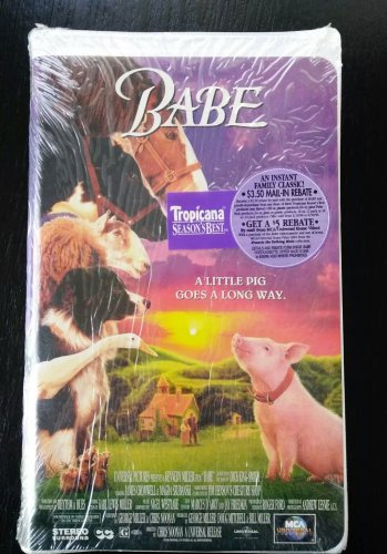 3b37fc4462 Brand New Factory Sealed BABE VHS Family Movie about a pig ...
