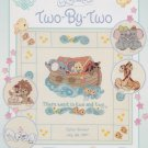 Precious Moments PM52 TWO BY TWO Cross-Stitch Pattern Booklet Noahs Ark Animals FREE SHIPPING