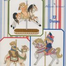 Cherished Teddies CAROUSEL Cross-Stitch Pattern Booklet Designs by Gloria & Pat FREE SHIPPING