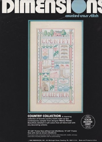 Dimensions COUNTRY COLLECTION 3602 Cross-Stitch Pattern ONLY Design by Nancy Rossi FREE SHIPPING