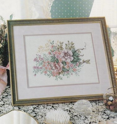 POETRY OF NATURE Cross-Stitch Single Pattern ONLY Flowers Bouquet FREE SHIPPING