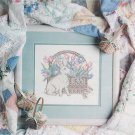 GARDEN BASKET Cross-Stitch Single Pattern ONLY Flowers Bunny FREE SHIPPING