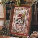 SANTA SAMPLER Cross-Stitch Single Pattern ONLY Christmas Holiday Santa Clause FREE SHIPPING