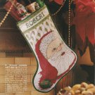 SANTA STOCKING Cross-Stitch Single Pattern ONLY Christmas Holiday Santa Clause FREE SHIPPING