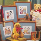 BEARS AT PLAY Cross-Stitch Single Pattern ONLY Beach Snowman Bees Butterflies FREE SHIPPING