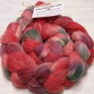 "Soft Wool Blend Handpainted Roving  ""Apples N Plums"""