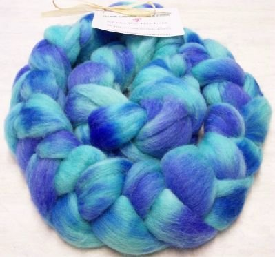"Soft Wool Blend Roving ~ ""Biloxi Blues"""