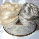 Exotic Roving Yak/Silk & Baby Camel/Silk top sampler set!