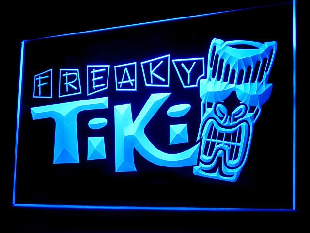 FREAKY TIKI BAR LOUNGE LED SIGN IN 5 COLORS