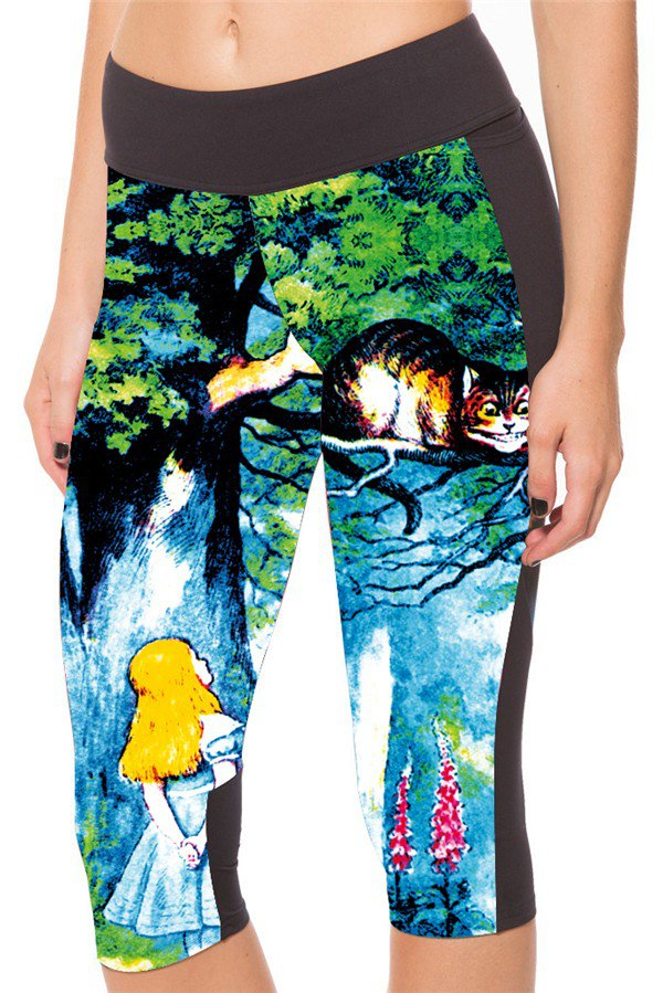 Alice in Wonderland capri leggings