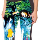Alice in Wonderland capri leggings