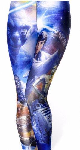 Ladies Blue Star Wars Leggings