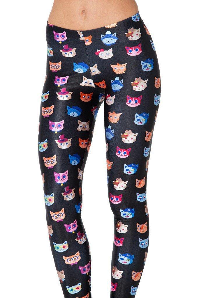 cartoon cat leggings