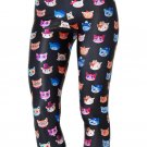 cartoon cat leggings