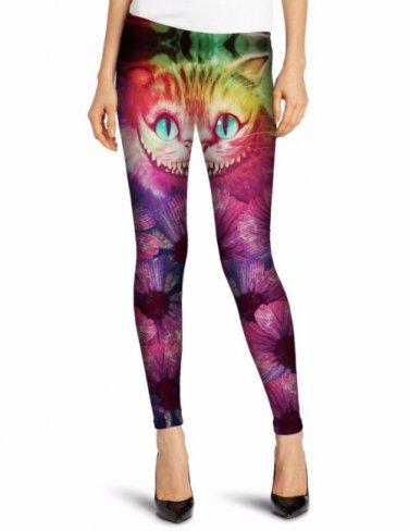 Cheshire cat Alice in wonderland leggings