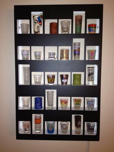 30-Mixed (Short & Tall) Shot Glass Display Case