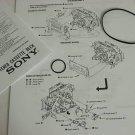 Sony Cassette Deck Belt Kit TC-K909ES TC-K850ES TC-K890 TC-KA3ES