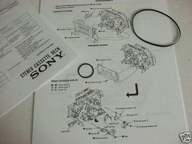 Denon DN-790R Cassette Deck Transport Repair Belt Kit