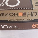 10 Denon HDM-60 Type IV Metal Bias Audio Cassette Tapes New Seal Made in Japan