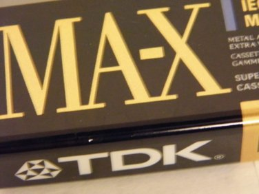 TDK MAX-100 Type IV Metal  Bias Audio Cassette Tapes New Factory Seal