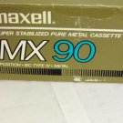 Maxel MX90Type IV Metal Bias Audio Cassette Tapes New Factory Seal