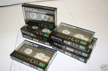 10 Denon HD8-100 Metal Audio Cassette Tapes MadeINJapan