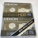 Rare Denon HD8-75 Two Pack Metal Casssette Tapes