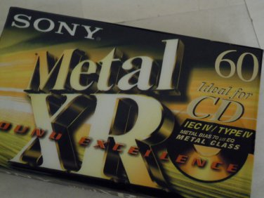 Sony XR60 Metal Type IV Bias Audio Cassette Tapes New