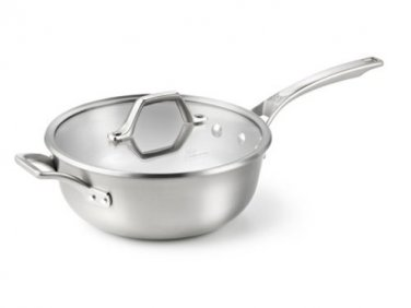 Calphalon Accucore 4 qt. Chef's Pan with Lid  Stainless Steel, Aluminum, Copper
