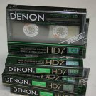 Denon HD7-100 Cassette Tape lot  Made in Japan