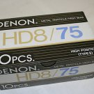 10 Denon HD8-75 Metal Particle Audio Cassette Tapes NOS Factory Seal