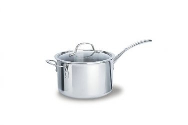 Calphalon Tri-ply Stainless Steel 4.5Qt. Sauce Pan & Cover  New Retail