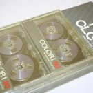 Silver Reel to Reel Audio Cassette Tapes