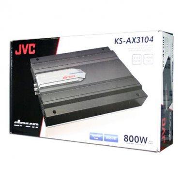 JVC KS-AX3104 800W 4 Channel Class A/B  DRVN Series Car Amplifier