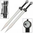 Ultimate Gladiator Twin Silver Dragon Sword Set