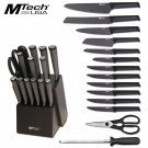 MTech 15 Piece Kitchen Cutlery Knife Set And Block Stainless Steel Chef Knives