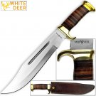 WHITE DEER MAGNUM Outback American Bowie Knife High Carbon Stainless Steel w Leather Handle