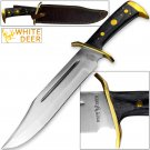 WHITE DEER MAGNUM XXL Large Bowie Knife High Carbon Stainless Steel Extreme Duty