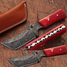 White Deer Damascus Steel Limited Edition Knife w/ Camel Bone
