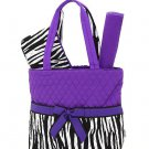 Belvah quilted zebra monogrammable 3pc baby diaper bag ZBQ1103(PP) BS1000