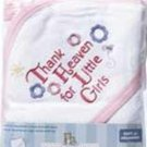 Thank Heaven for Little Girls Hooded Towel Baby Bath Gift Layette Set