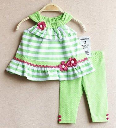 Baby girls size 12 months Rare Editions 2 piece capri set infant sale C1007